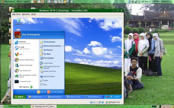 Win Xp di Virtual Box Ubuntu