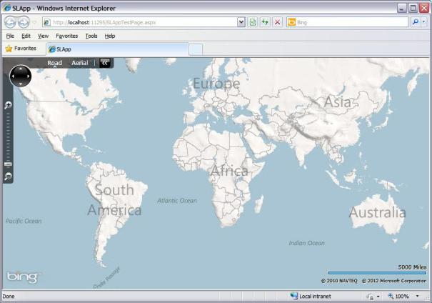 Bing Maps Control for Silverlight