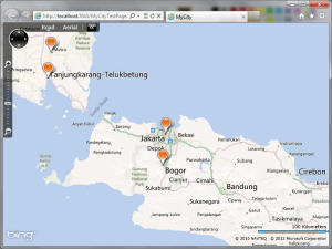 Push Pin Bing Maps Silverlight Control dengan data WCF